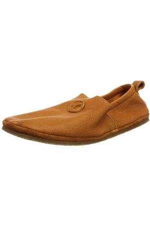 POLOLO Unisex barn barfota elastisk utomhus ljusbrun platt tofflor, Ljusbrun - 32 EU