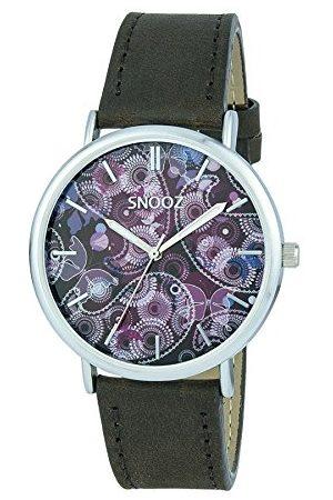 Snooz Herr analog kvartsklocka med läderarmband Saa1041-79
