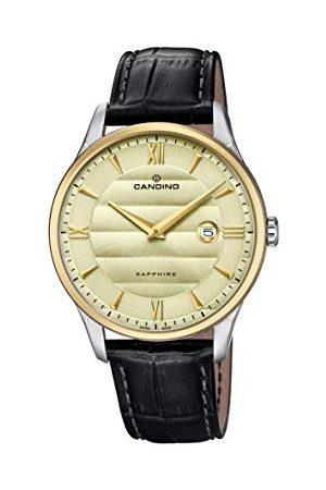 Candino Herr analog klassisk kvartsklocka med läderrem C4640/2