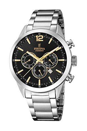 Festina Herr Chronograph kvartsur med rostfritt stål armband F20343/4