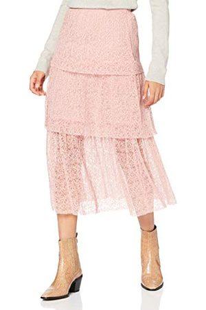 Miss Selfridge Miss Selfridge liten dam rouge spets nivåad kjol