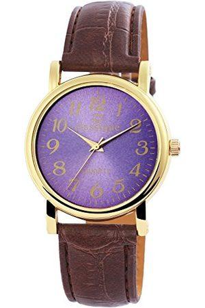 Classique Klassisk herr analog kvartsklocka med läderarmband RP3400310001