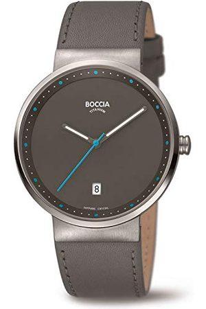 Boccia Unisex vuxen analog kvartsklocka med läderrem 3615-03
