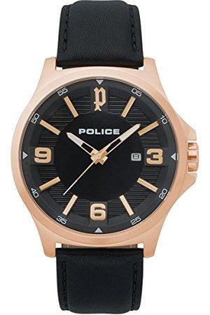 Police Polis herr kronograf kvartsklocka med läderrem PL.15384JSR/02