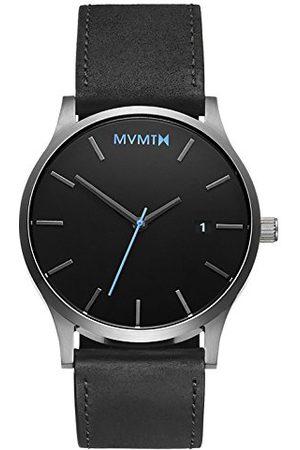 MVMT Herr analog kvartsklocka med läderarmband D-MM01-BSL