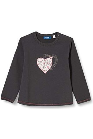 Sanetta Baby-flicka Seal Grey sweatshirt