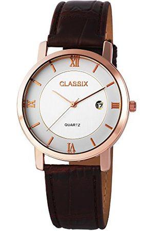 CLASSIX Herr analog kvartsklocka med läderarmband RP3103200002