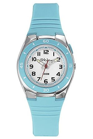 Tekday Unisex barn analog kvartsklocka med silikonarmband 653939
