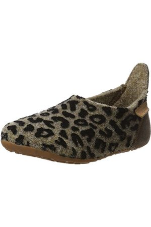 Bisgaard Unisex barnull enkla tofflor, Mehrfarbig 173 Brown Leopard7.5 UK Child