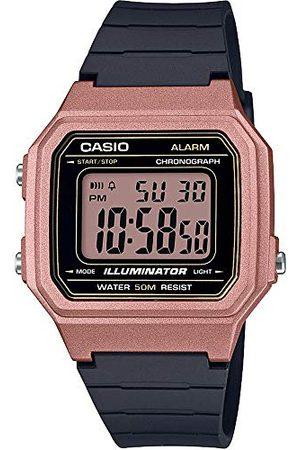 Casio Digital kvartsklocka för män med Resin Armband W-217HM bälte Rosenfärgat