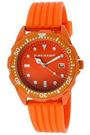 Dunlop Unisex vuxna analog kvartsklocka med gummiarmband DUN184L08