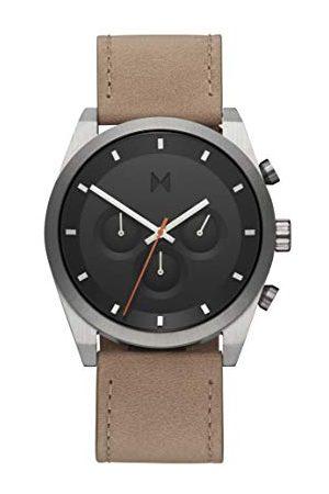 MVMT Herr analog kvartsklocka med läderrem 28000044-D