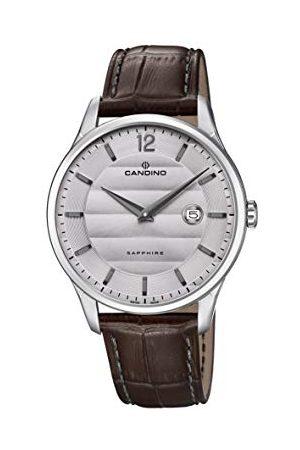 Candino Herr analog klassisk kvartsklocka med läderrem C4638/2