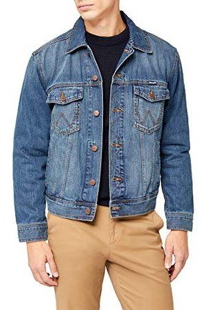 Wrangler Herr jeans Jake W4481514V West DENIM JACKET, Gr. Medium, (MID STONE)