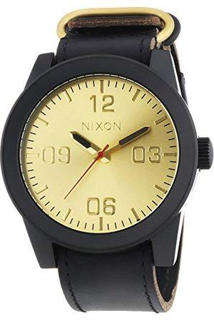 Nixon Herrarmbandsur XL Corporal Black Gold analog kvarts läder A243010-00