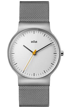 von Braun Analog klassisk kvartsklocka med rostfritt stålrem BN0211WHSLMHG