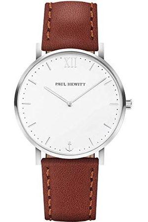 Paul Hewitt Unisex vuxna analog kvarts smart klocka armbandsur med läderarmband PH-SA-S-Sm-W-1S