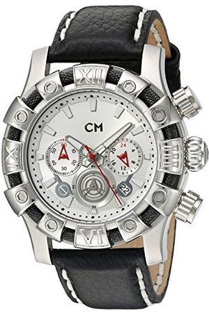 Carlo Monti Arezzo herr kvartsklocka med urtavla kronograf display och läderrem CM122-112