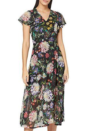 Yumi Krysantemum Blommigt Tryck Midi-klänning Ledig