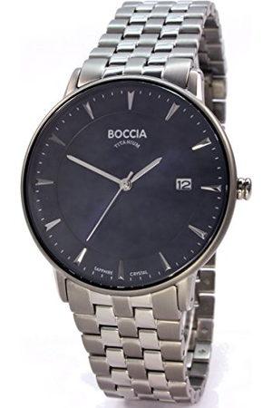 Boccia Mäns digital kvarts klocka med titan armband 3607-03