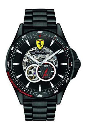 Scuderia Ferrari Herr skelett automatisk klocka med rostfritt stålrem 0830602