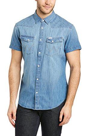 Wrangler Herr S/S Western Shirt Light Indigo fritidsskjorta