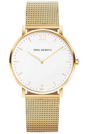 Paul Hewitt Unisex analog kvartsklocka med rostfritt stål armband PH-SA-G-Sm-W-4M