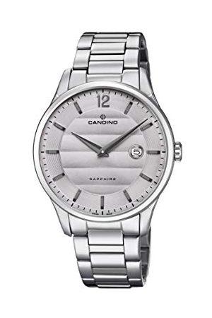 Candino Herr analog klassisk kvartsklocka med rostfritt stålrem C4637/2
