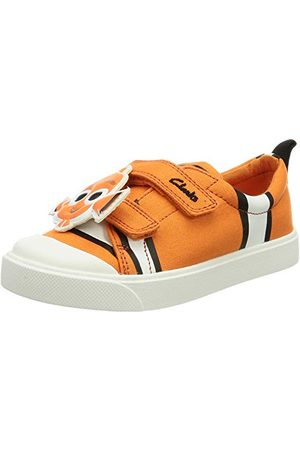 Clarks Pojkar City Nemo T Sneaker, kanvas - 25 EU