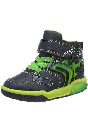 Geox Pojkar J Inek Boy C hög sneaker, Navy Lime C0749-29 EU
