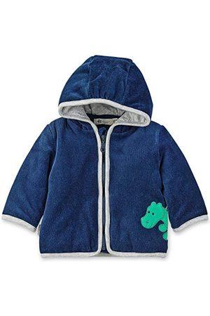 Sterntaler Baby Pojkar Veste à gosig zoo Nicki huvjacka, söt konrad krokodildesign, storlek: 50, ålder: 0-2 månader, marinblå