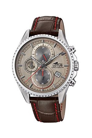Lotus Lotus klockor herr kronograf kvartsklocka med läderrem 18527/2