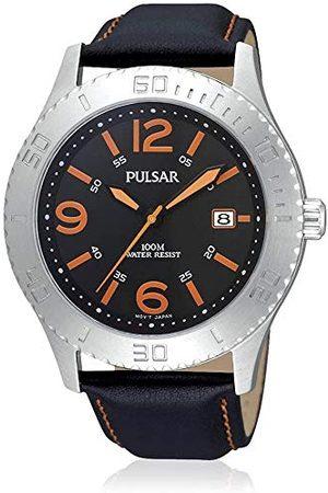Pulsar Mäns armbandsur XL sport analog kvarts läder PS9005X1