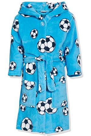 Playshoes Pojkar gosig mjuk fleece morgonrock fotboll badrock
