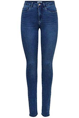 Only Dam Onlroyal High Waist mager jeanshose, (medium Blue Denim), XL/32 l