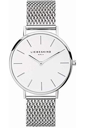 liebeskind Unisex vuxna analog kvartsur armband En Storlek Silber-weiß