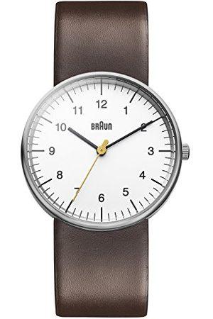 von Braun Herr kvarts tre hand rörelse klocka med analog display och läderrem rem