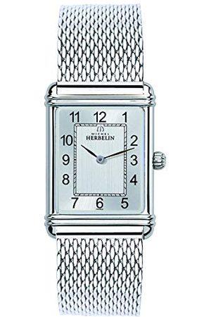 Michel Herbelin Herr analog kvartsur med rostfritt stål armband 17468/22BM