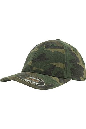 Flexfit Unisex kappa plagg tvättad kamouflage kamouflage (Green Camo) S/M