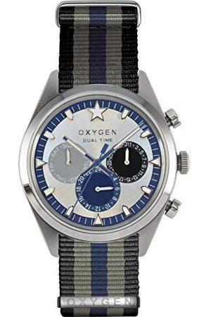 Oxygen Unisex-armbandsur Pacific 40 analog kvarts nylon EX-SDT-PAC-40-NN-BLGRNA