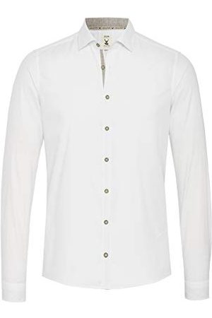 Pure Herr 5010-21301 traditionell slim fit långärmad skjorta, uni ljusblå, S