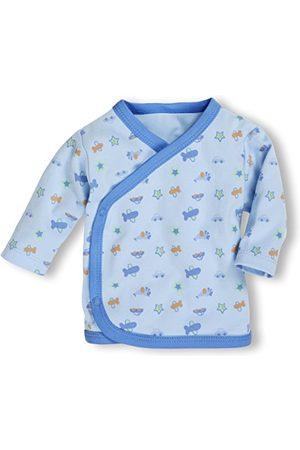 Schnizler Unisex baby skjorta Wickelshirt, vinge skjorta, häpnadsskjorta långärmad Oeko Tex Standard 100