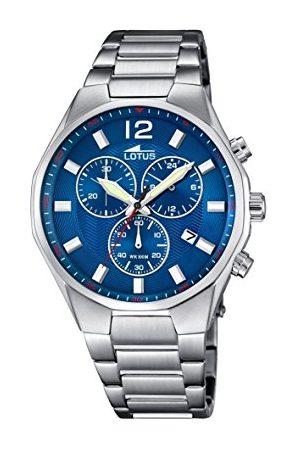 Lotus Herr kvartsklocka med urtavla kronograf display och rostfritt stål armband 10125/3