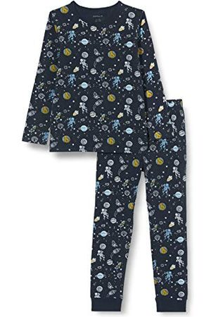 NAME IT Pojkar nattdräkt mörk Sapphire Space Noos pyjamas-set (2-pack)