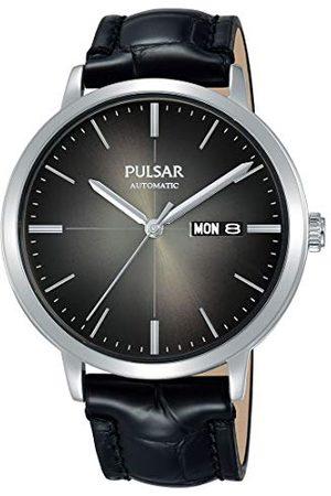 Pulsar Herr analog automatisk klocka med läderarmband PL4045X1