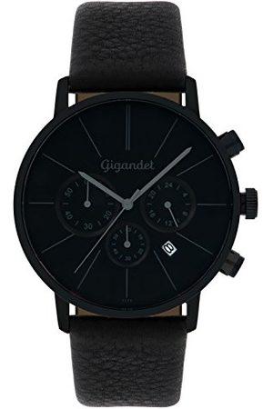 Gigandet Minimalism herrarmbandsur kronograf kvarts analog med läderarmband G32-004