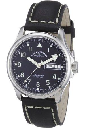Zeno Zeno klocka Basel mäns automatisk klocka basic 12836DDN-a1 med läderrem