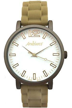 Arabians Analoga kvartsklocka för män med silikonrem DBA2122B