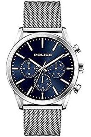Police Herr analog kvartsklocka med rostfritt stål armband 1