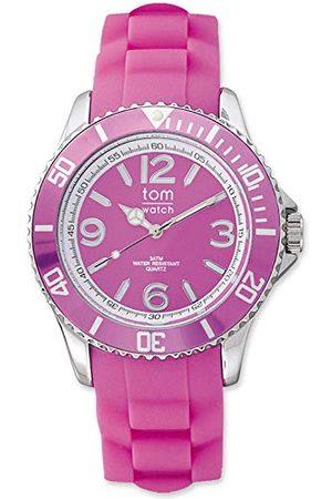tom watch Unisex vuxna analog kvartsklocka med gummiarmband WA00064